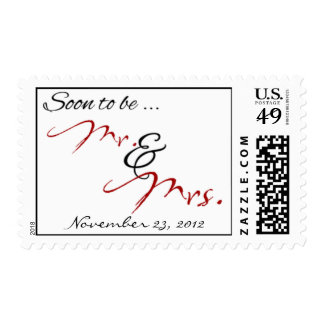 Mr. & Mrs. stamp