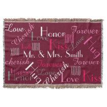 Mr. & Mrs. Throw Blanket
