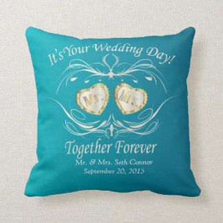 Mr & Mrs Together Forever | Personalize Throw Pillow
