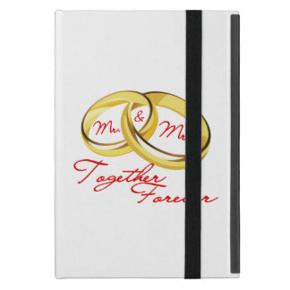 Mr & Mrs Together Forever Wedding Rings Cover For iPad Mini