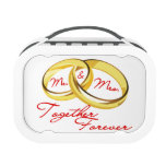 Mr & Mrs Together Forever Wedding Rings Yubo Lunchboxes