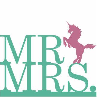 Mr & Mrs Unicorn Cake Topper Cutout