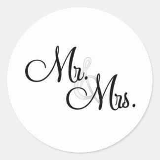 Mr. & Mrs. Unique Items Classic Round Sticker