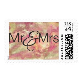 Mr.& Mrs. USA Postage Stamp