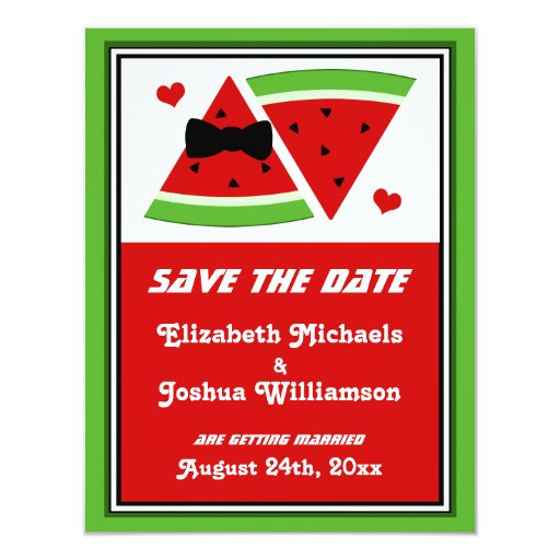 Mr & Mrs Watermelon SAVE the DATE Announcements