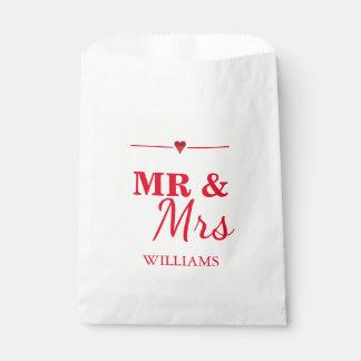 Mr. & Mrs. Wedding Favor Bag