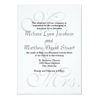 Mr. & Mrs. - Wedding Invitation