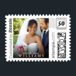 "Mr. &amp; Mrs. Wedding Photo PhotoStamp by Stamps.com<br><div class=""desc"">Thank all your family and friends for coming to your wedding with Mr. &amp; Mrs. custom postage. Personalize by adding your favorite wedding photo and custom text.</div>"