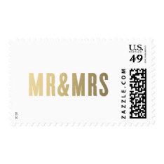Mr. & Mrs. | Wedding Postage at Zazzle