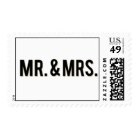 Mr. & Mrs. | Wedding Postage Stamps|Custom