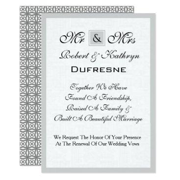 Beach Themed Mr & Mrs Wedding Vow Renewal Invitation