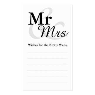 Mr&Mrs Wedding Wishes Business Card