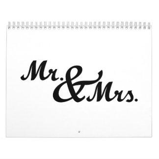 Mr & Mrs wedding Calendar