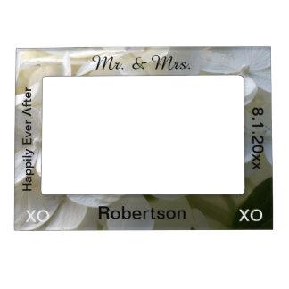 Mr. & Mrs. White Floral Wedding Frame
