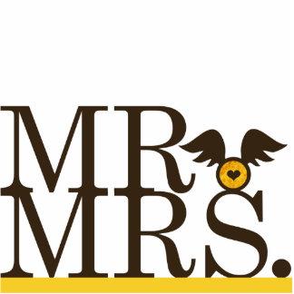 Mr & Mrs Wings Cake Topper Cutout