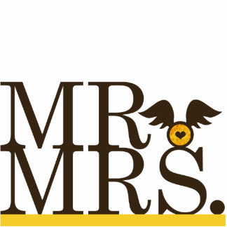 Mr & Mrs Wings Cake Topper Photo Cut Out