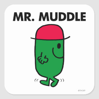 Mr. Muddle | Walking Backwards Square Sticker