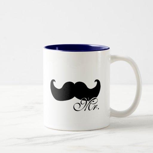 Mr mug - with black mustache