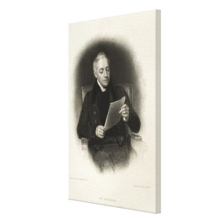 Mr. Murray, publisher of Lord Byron's works Canvas Print