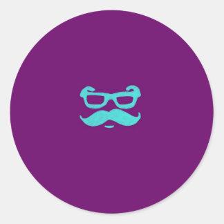 Mr. MUSACHIO Classic Round Sticker