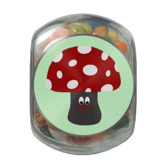 Mr Mushroom Jelly Belly Candy Jar