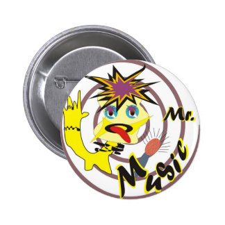 Mr Music Pinback Button