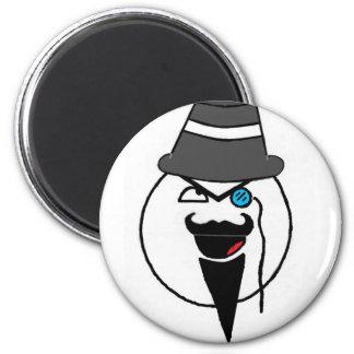 Mr. mustache 2 inch round magnet