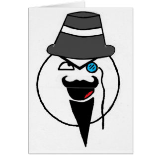 Mr. mustache card