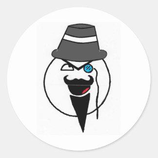 Mr. mustache classic round sticker