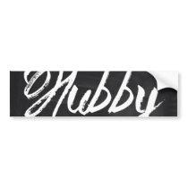 Mr Mustache Groom Honeymoon hubby Bumper Sticker
