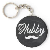 Mr Mustache Groom Honeymoon hubby Keychain