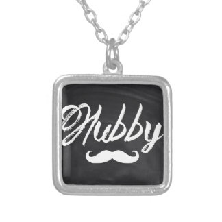 Mr Mustache Groom Honeymoon hubby Silver Plated Necklace