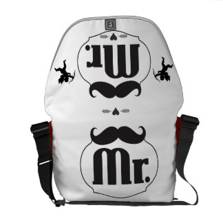 Mr. Mustache Lil Man Baby Boy Stats Courier Bag