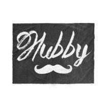 Mr Mustache newlywed Groom Honeymoon hubby Fleece Blanket