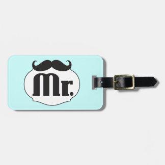 Mr. Mustache Retro Vintage Hipster Gifts Bag Tag