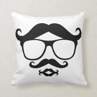 Mr.Mustache Throw Pillow