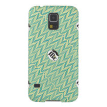 Mr. Mustache Yellow and Green Case For Galaxy S5