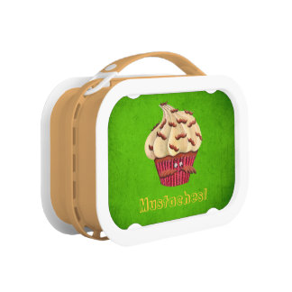 Mr Mustached Cupcake Lunch Box