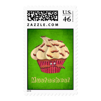 Mr Mustached Cupcake Stamp