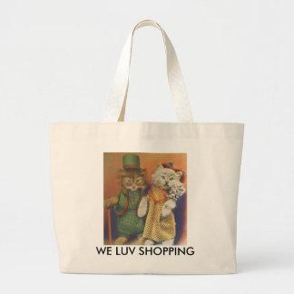 mr n mrs cat canvas bags