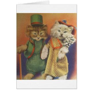 mr n mrs cat cards
