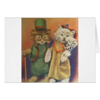 mr n mrs cat greeting card
