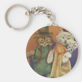 mr n mrs cat key chains