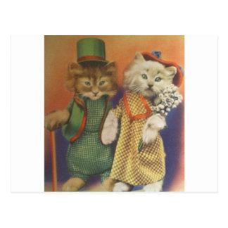 mr n mrs cat post cards