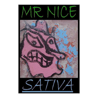 MR NICE SATIVA POSTER