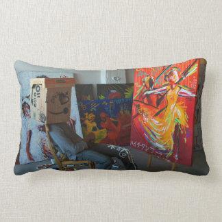 Mr. NOBODY: ( pre·ten·tious Art Project Lumbar Pillow