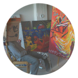 Mr. NOBODY: ( pre·ten·tious Art Project Melamine Plate