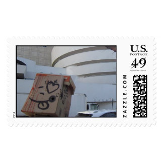 Mr NOBODY pre·ten·tious Art Project Postage Stamps