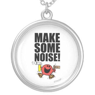 Mr. Noisy | Make Some Noise Round Pendant Necklace
