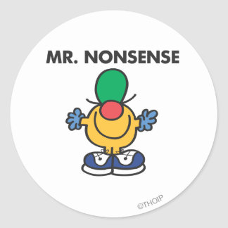 Mr. Nonsense | Funny Outfit Classic Round Sticker